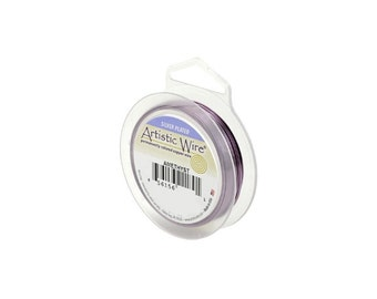 Artistic Wire 24 Gauge Silver Plated Amethyst 41358 Purple Round Wire, Jewelry Wire, Craft Wire, Silver Plated Wire, 24ga Soft Temper Wire