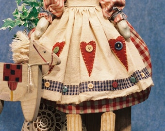 Cloth Doll E-Pattern - 23in Raggedy Ann Doll E-pattern