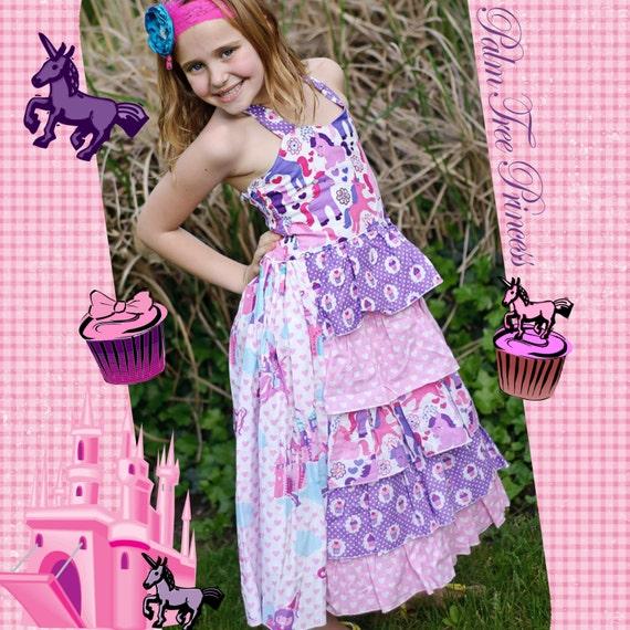 Princess Dress - Girls Purple Dress - Unicorn Dress