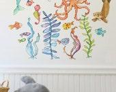 Briny Buddies - wall decal - set B
