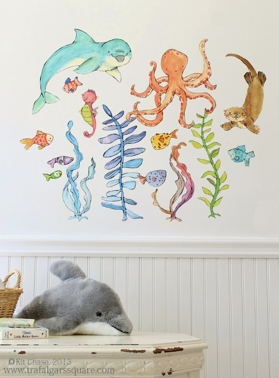 Briny Buddies - wall decal - set B
