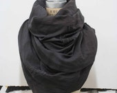 Large Printed Scarf , Gray Unisex Accessories