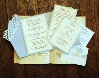 Custom Wedding Invitations - Letterpress (1 color)