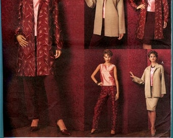 Vogue 2706  Jacket  Top  Skirt  Pants Sewing Pattern Misses Size 8  10  12  UNCUT