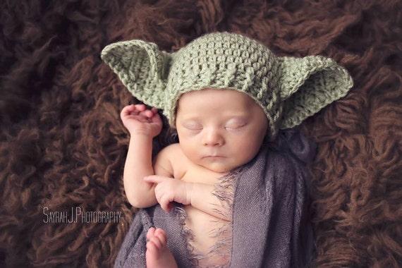 Baby Yoda Hat Star Wars Preemie Newborn 0 3m 6m By