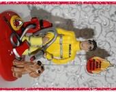 Fireman Birthday Cake Topper Keepsake, personalized
