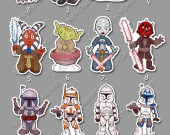 Hand Cut Star Wars Magnets (Group 3)