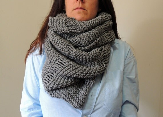 Knitting Pattern Infinity Cowl : Oversized Cowl Infinity Scarf Knitting Pattern by LewisKnits