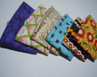 Coffee Sleeves for the gang -  Reversible insulated coffee cozy, fabric cup cozy