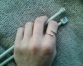Knitting Needle Adjustable Ring in Sterling Silver