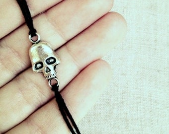 personalized unisex friendship bracelet pirate skull wish bracelet best friends jewelry nautical fashion for him valentines day gift for her