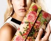 Leather Clutch Bag, Wedding clutch, Leather purse, Bridesmaid clutch, Evening Bag - Decoupage Roses