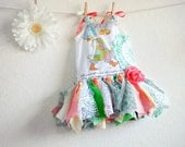 Holly Hobbie Baby's Dress Fairy Clothing Pastel Colors Girl's Sundress Tattered Clothes Woodland Style Eco Friendly 18M 'DAPHNE'