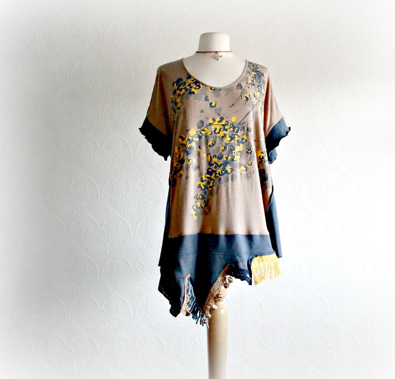 Brown Women's Top 2X Plus Size Clothing By BrokenGhostClothing