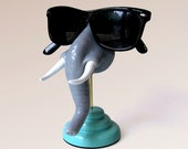Elephant nose eyeglass holder, Elephant figurine, Eyewear display, Men, Women, Kids, Sunglasses holder