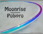 """ToP SeLLeR CoLoR-CHaNGiNG 'MOONRiSE' Polypro Hula Hoop in 3/4"""" OD and 5/8"""" OD Thin!  // Free Inside Grip Option // Highest Quality."""
