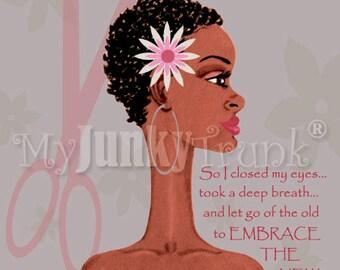 Big Chop- African American Art Natural Hair Afro Black Art Print