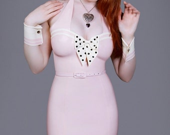 Latex Rubber Betty Pin Up Dress