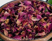 RED ROSE PETALS (Rosa damascena) Certified Organic, Earth Kosher for Rituals Involving Love, Romance, Sex, Prophetic Dreaming, Psychic Power