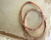 c u s t o m - o r d e r : large hammered hoop findings by sparrow salvage studio - 1 pair