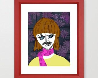 Original Print of Ringo Starr - Beatles drummer