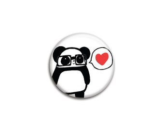 Nerdy Panda Love Pinback Button