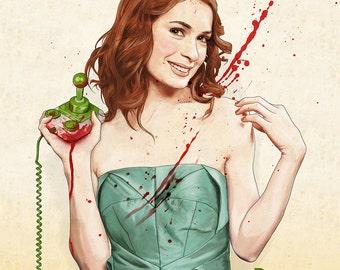 Slaughterhouse Starlets - Felicia Day Print