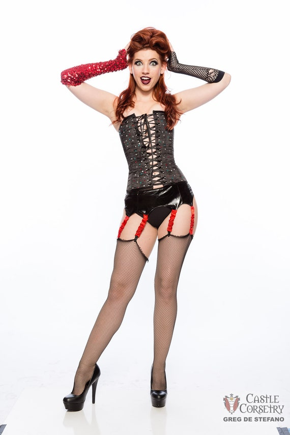 Rocky horror floorshow corset by castlecorsetry on etsy