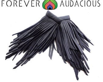STRIPPED (Genuine Leather Handcrafted Fringe Earrings)-FREE Gift w/ Purchase