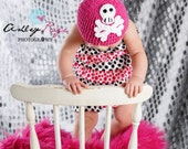 Punk Princess Skully Beanie - Crochet Pirate/Punk/Rock Hat - Baby/Girl/Teen/Adult
