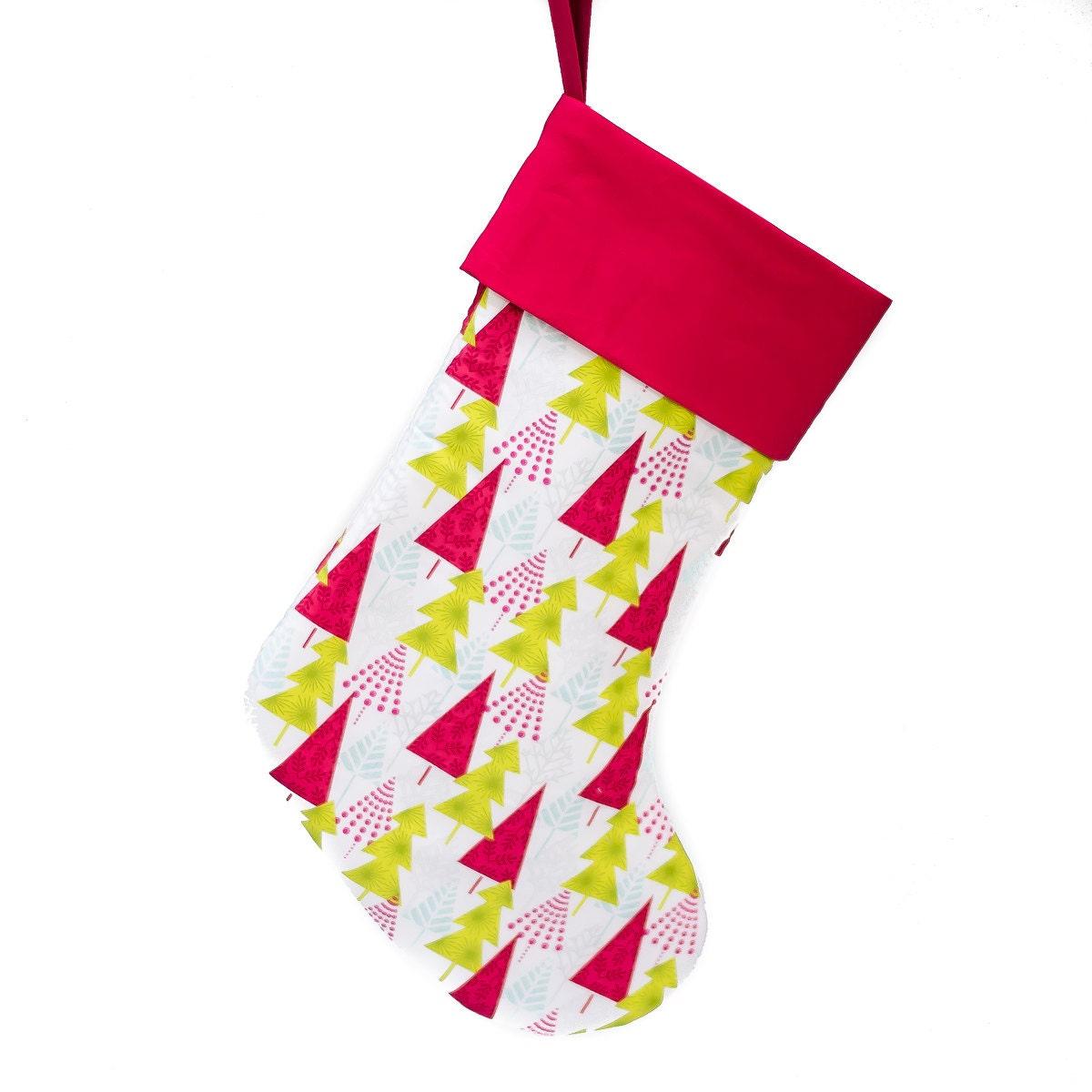 Christmas stocking handmade hip holiday christmas trees for Custom made christmas stockings
