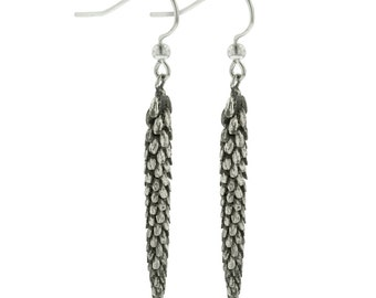 Sterling Silver Dangle Urban Weeds Earrings