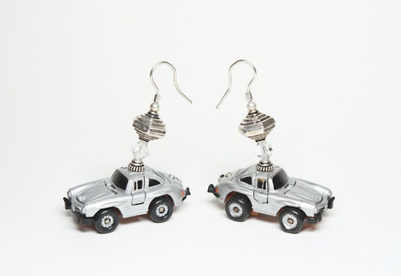 Items similar to mercedes benz 1980s micro machines for Mercedes benz earrings