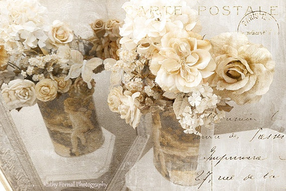 Shabby Chic Photography Floral Art, Still Life Flower Wall Decor ...