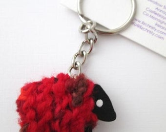 LizzyC Sheep Key-Ring - Poppy