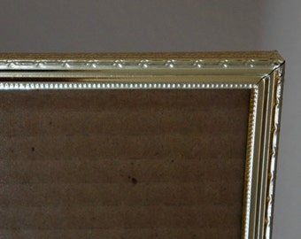 Vintage Metal Picture Frame Gold Metal Bamboo Design Border 8 x 10 1960s