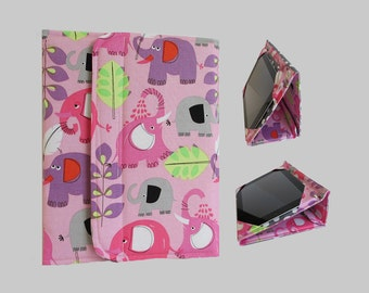 iPad Cover Hardcover, iPad Case, iPad Mini Cover, iPad Mini Case, iPad Air Case, iPad Pro Case, iPad 2, iPad 3, iPad 4 Pink Elephants