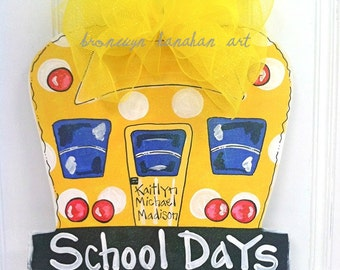 School Bus Door Hanger - Bronwyn Hanahan Art