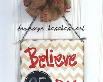 Christmas Countdown Sign - Bronwyn Hanahan Art