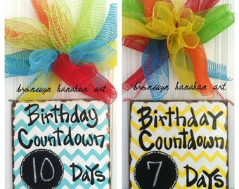 Birthday Countdown Sign - Bronwyn Hanahan Art