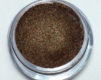 ICED LATTE Natural Eyeshadow - Vegan Friendly Mineral Makeup - No Fillers - 5 Gram Jar with Sifter - Brown with Golden Shimmer - On Sale