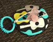 Pacifier Pocket- Paci Pod- Binki Holder - Groovy Guitar Lagoon- Baby Boy- Rocker Baby