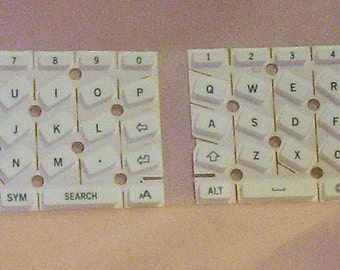 Alphabet Small Alphabet White Keyboard Keys to Up-cycle/Repurpose