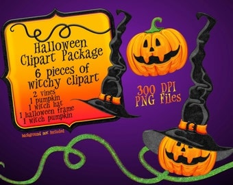 Halloween Clipart, Pumpkin Clipart, Halloween Graphics