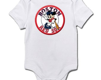Boston Red Sox themed bodysuit or tee