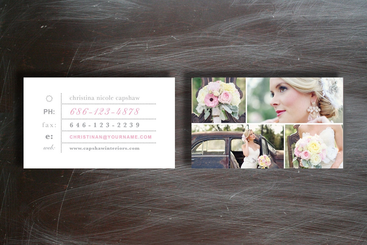 Business Card Template Photography Business Card