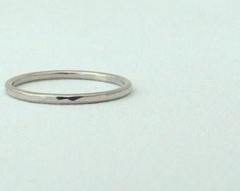 palladium wedding band thin wedding band palladium wedding ring hammered palladium wedding band simple wedding rings - Simple Wedding Ring