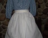 Ladies Colonial Calico Print Dress Costume Civil War Pioneer Prairie