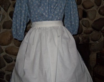 Ready to Ship Ladies Colonial Printed Dress Costume Civil War Pioneer Prairie