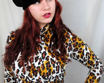 Vintage 80s 90s Leopard Print Top - Necessary Objects